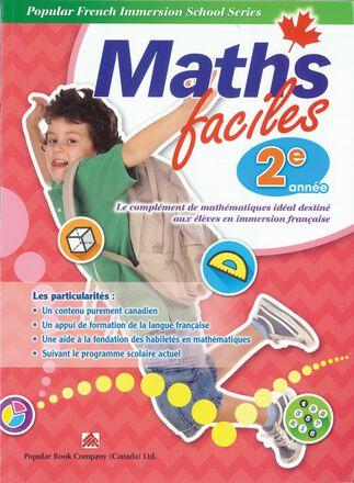 Maths faciles pour l'immersion française - 2e année