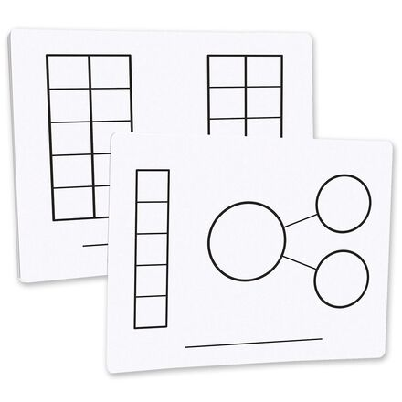 Write-On/Wipe-Off Five-Frame/Ten-Frame Mats