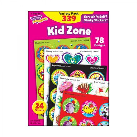 Kid Zone Scratch 'n Sniff Stinky Stickers®