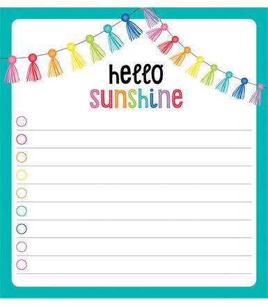 Hello Sunshine Notepad