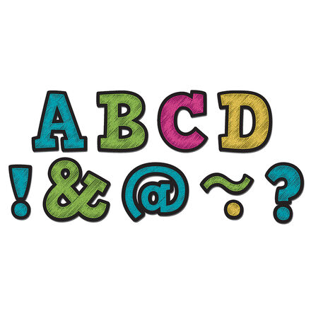 Magnetic Letters: Chalkboard Brights Bold