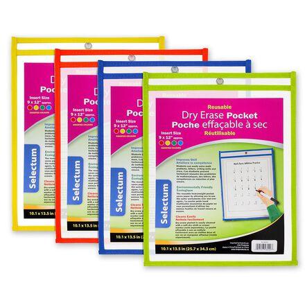 Reusable Dry Erase Pockets 12-Pack