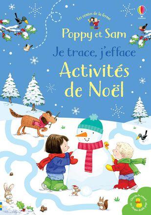 Les contes de la ferme : Poppy et Sam : Je trace, j'efface : Activités de Noël