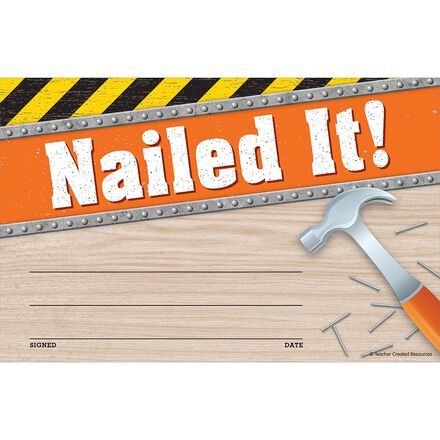 Under Construction Nailed It! Awards