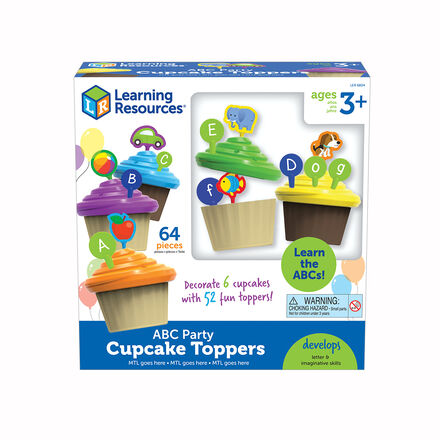 Learning Essentials®: ABC Party Cupcake Toppers