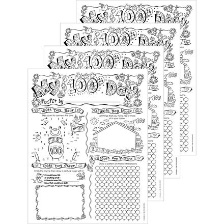 100th Day Poster Papers