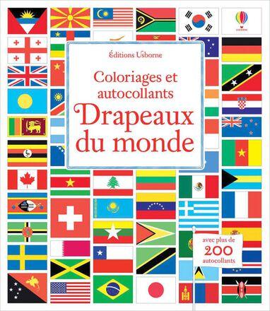 Drapeaux du monde : Coloriages et autocollants
