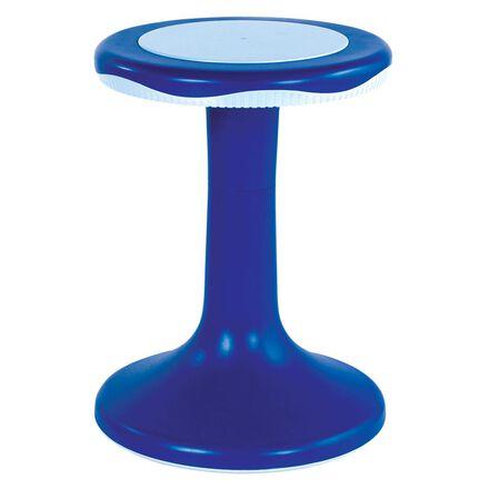 Tabouret bleu en mouvement