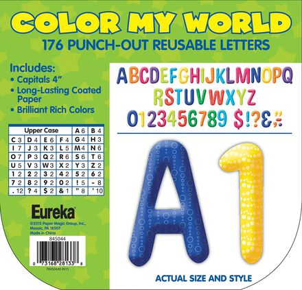 Color My World Patterns Deco Letters