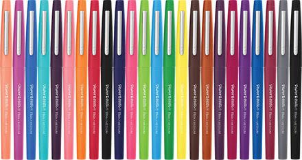 Paper Mate Flair Markers: 24 Felt Tip Pens Pack