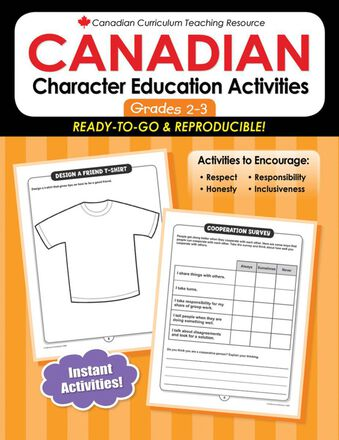 Canadian Character Education Activities Gr. 2-3