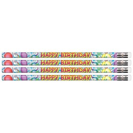 Happy Birthday Glitz Educational Pencils
