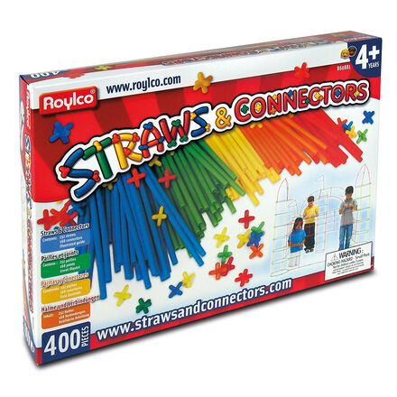 Straws & Connectors Creative Building Sets (400 Pieces)
