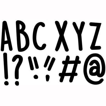 Casual Black Designer Letters