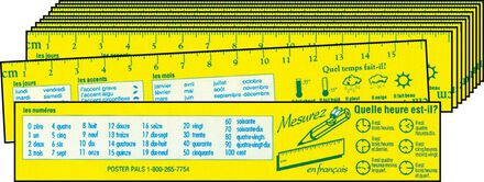 French Memory Aid Reference Rulers