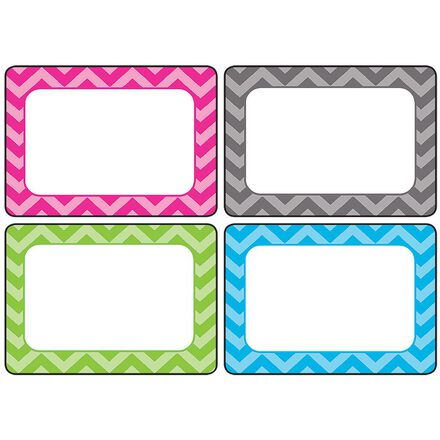 Chevron Multi Name Tags and Labels