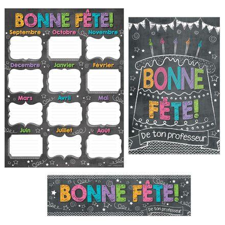 French Chalkboard Happy Birthday Reward Pack