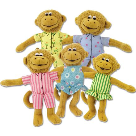 Five Little Monkeys Plush Set