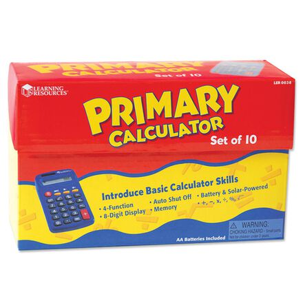 Primary Calculator 10-Pack