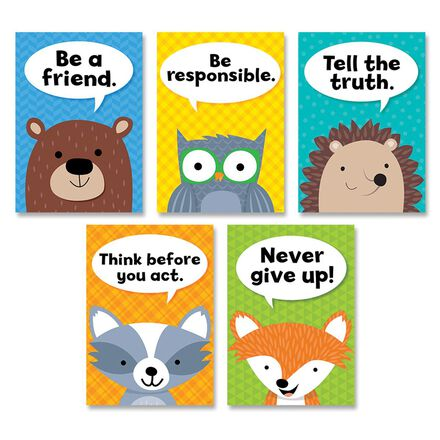 Woodland Friends Character Traits Poster 5-Pack