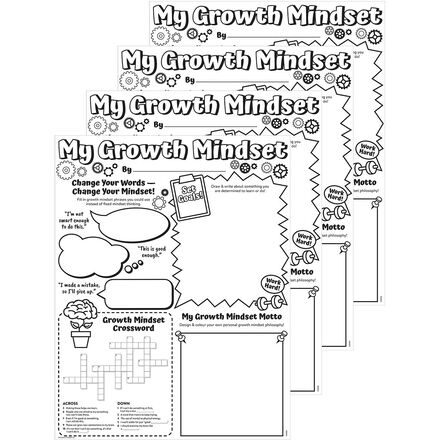 My Growth Mindset Poster Papers