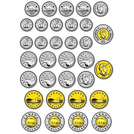 Monnaie canadienne magnétique