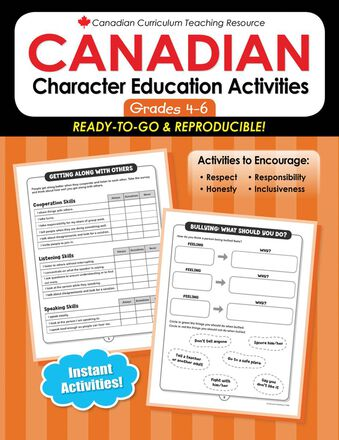 Canadian Character Education Activities Gr. 4-6