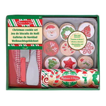 Wooden Christmas Cookie Set