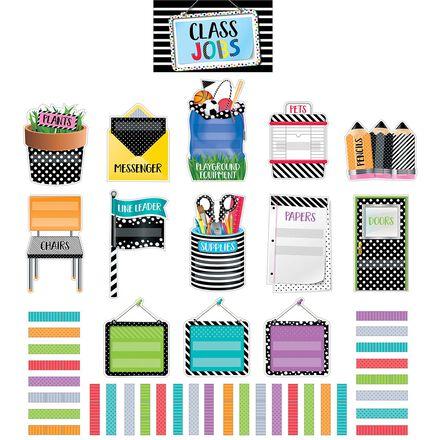 Bold & Bright Classroom Jobs Mini Bulletin Board Set