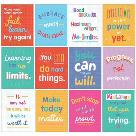 Growth Mindset Mini Posters Set
