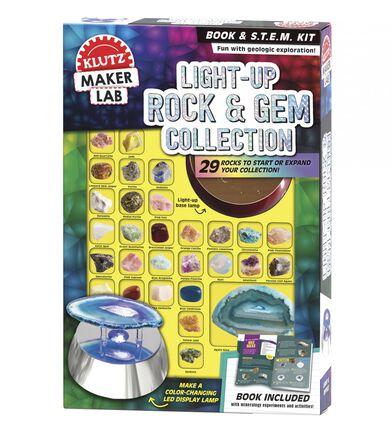 Klutz® Maker Lab: Light-Up Rock & Gem Collection