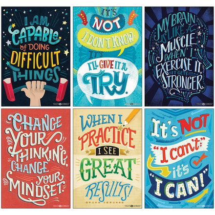 Where's Your Mindset Poster Set