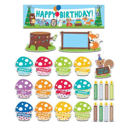 Woodland Friends Happy Birthday Mini Bulletin Board Set
