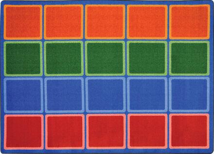Tapis blocs de couleur
