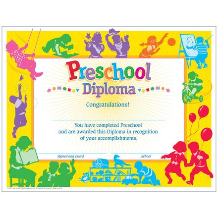 Classic Preschool Diplomas
