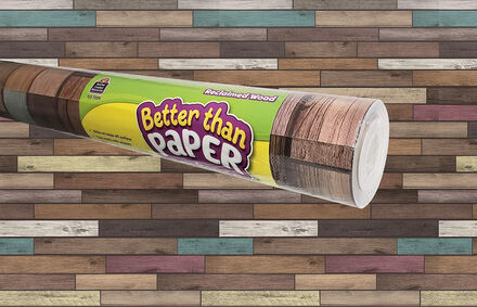 Better Than Paper Bulletin Board Roll: Reclaimed Wood