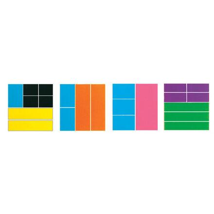 Fractions multicolores : Carrés