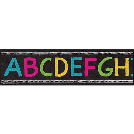 Chalkboard Brights Alphabet Trimmer