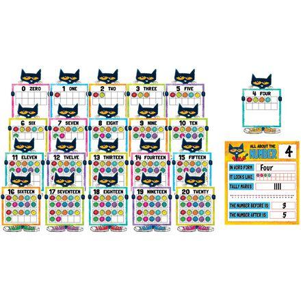 Pete the Cat© Numbers Bulletin Board Set