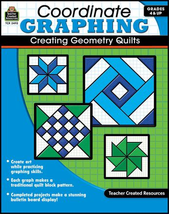 Coordinate Graphing Creating Geometry Quilts Gr. 4-8