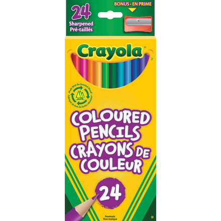 Crayola® Coloured Pencils: 24-Pack