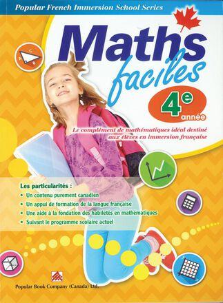 Maths faciles pour l'immersion française - 4e année