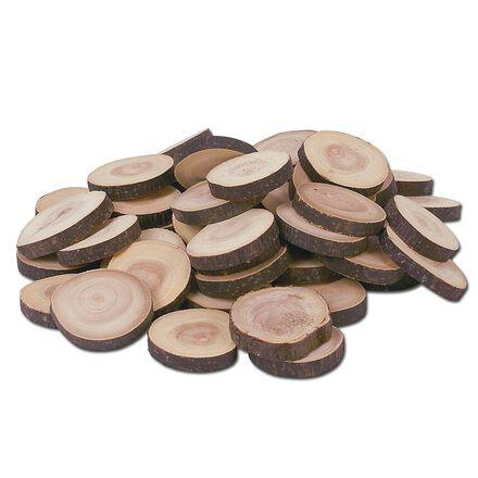 Pièces en rondelles de bois, ensemble de 50