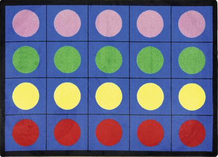 Tapis cercles de couleur