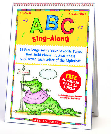 ABC Sing-Along Flip Chart with Downloadable Songs