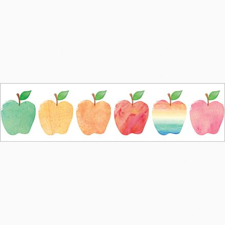 Watercolor Apples Border Trimmer