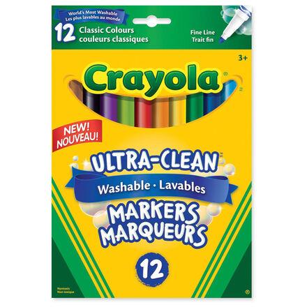 Marqueurs lavables à pointes fines Crayola® (12)