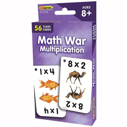Math War Multiplication Flashcards