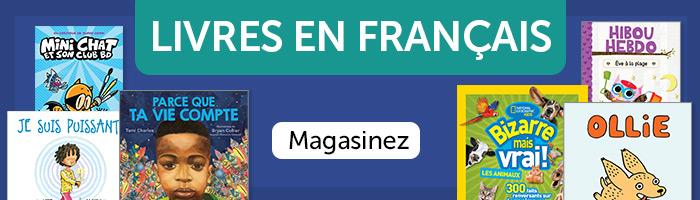 Livre en français. Magasinez