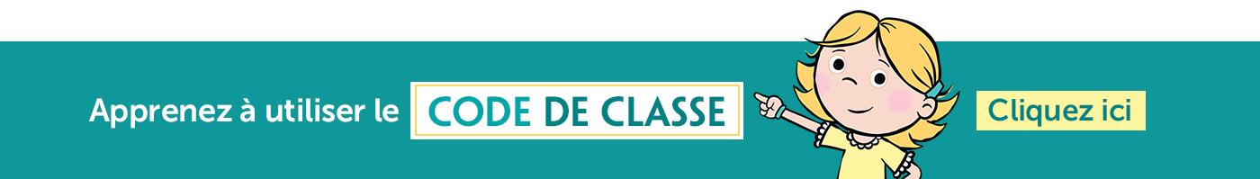 Apprenez à utiliser le Code de classe, cliquez ici